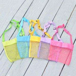 5 Colors Bag Beach Mesh Bag Pouch Kids Children Fun Toys Sea Shell Storage shoulder Bag Beach Fun 1019 V2