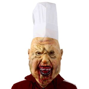 Bloody Butcher Latex Mask Halloween Horror Fancy Dress Party Costume Props Haunted House Cosplay Headgear