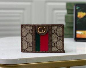 2021 مصممي الأزياء محافظ الفمز الرجال المرأة حقائب جلدية عالية الجودة الكلاسيكية النحل النمر ثعبان الحروف المحافظ مربع الأصلي مربع بطاقة digram 59761
