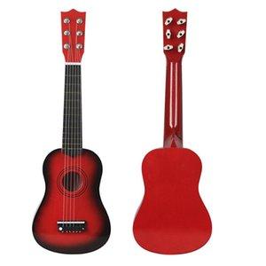 21-Inch Wood Guita Christmas Gift Children Four-String Small Color Travel Guitar Ukulele Kit