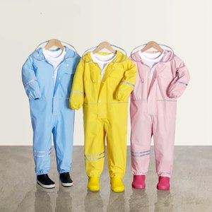 Kid's Waterproof Raincoat For Children Kids Baby Rain Coat Poncho Boys Girls Primary School Students Siamese RainSuit