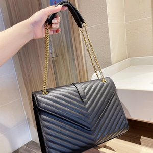 Frauen Luxurys Designer Taschen 2021 Handtaschen Square Fat Loulou HBP Kette Tasche Echte Leder Große Kapazität Schulter gesteppt Messenger Hohe Qualität Sack à HauptschuheFinder