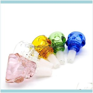 Other Aessories Household Sundries Home & Garden Style Of Skull Smoking Water Pipe Bongs Glass Smoke Tobao Bowl With Fast Ship Drop Delivery