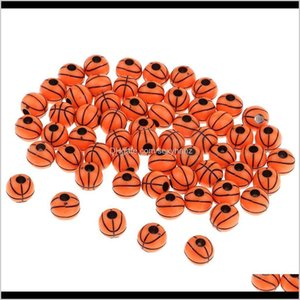 Sewing Notions Tools Apparel Drop Delivery 2021 Wholesale 60Pcs 12Mm Resin Spacer Basketball Beads Diy Findings Crafts Mjprf