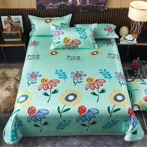 Sheets & Sets Ice Silk Mat Summer Home Bedroom Children's Room Bedding 3pcs Set 1 Bed Sheet+2 Case Non-Slip King Queen Size J8429