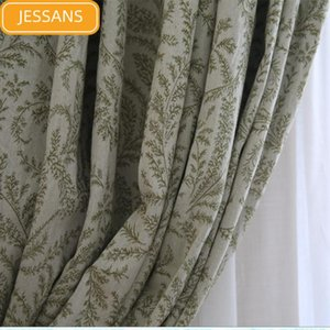 Curtain & Drapes American Country Pure Cotton Jacquard Blackout Curtains For Living Room And Bedroom Floor-to-ceiling Windows Customized Pro