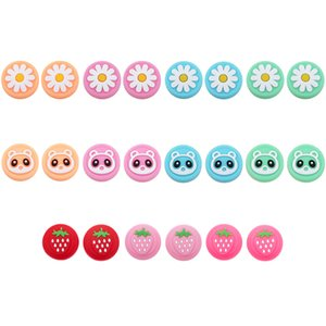 Strawberry Fruit Flower Silicone Thumb Grip Joystick Cap Cover For Nintend Switch Lite Joy-Con Controller Thumbstick Case High Quality