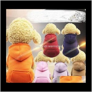 Apparel Dog Home & Garden Drop Delivery 2021 Hooded Sweater Small Hoodies Coat Pocket Jackets With Sleeve Dogs Outside Travel Winter Warm Clo