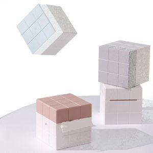 Tissue Boxes & Napkins Magic Cube Box Desktop Paper Holder Plastic Storage Napkin Case Organizer Home Car El Removeble Portable