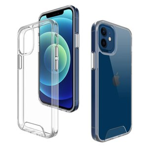 Transparent Shockproof TUP+PC Hybrid Armor Hard Cases for Phone 12 11 Pro XS Max XR 8 7 6 Plus Samsung S21 s10+ high quality