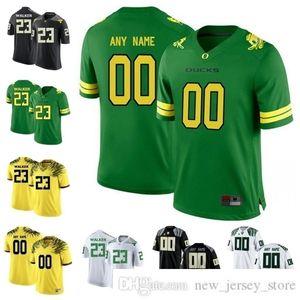 Custom Oregon Ducks College Football Wear Jersey Qualsiasi Nome Numero Stitched Mariota Herbert Aidan Schneider Kani Benoit Breoland 2019 NCAA Jerseys