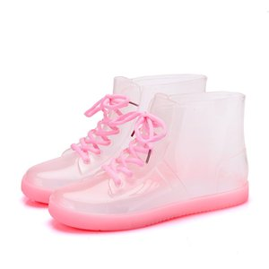 boot Women's rainboots, dwaterproof proof water... transparent fashionable shoes... slippers... rubber soles, non-slip 1K8W