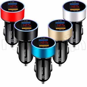 3A Quick Charge Led Display High Speed Car chargers For iphone samsung android phone gps pc mp3