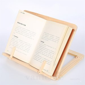Adjustable Portable wood Book stand Holder wooden Bookstands Laptop Tablet Study Cook Recipe Books Stands Desk Drawer Organizers ZC173
