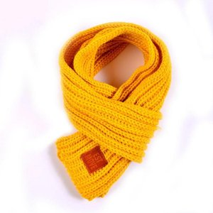 Scarves & Wraps Fashion Children Knitted Scarf Solid Winter Keep Casual Warm Autumn And Boys Girls Neck Unisex