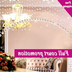 Crystals Glass Beads String Curtain Window Diy Wall Home Wedding Background Celebrity Decor