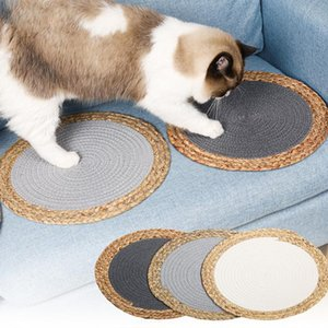 Summer Cat Scratcher Mat Pet Claw Polishing Scratching Protecting Furniture Pad Four Seasons Cool Board Beds &