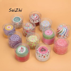 Cake Tools 100pcs lot Colorful Paper Cupcake Liner Baking Muffin Box Cup Wrappers 5619