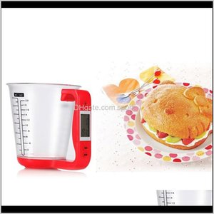 Scales Household Sundries Home Garden 1Kg Digital Lcd Measuring Cup Jug Electronic Kitchen Scale Baking Tools Milk Powder Drop Deliver