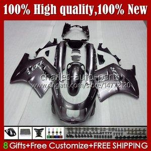 Body Kit For KAWASAKI NINJA ZX11R ZZR 1100 ZX-11 R ZZR1100 ZX11 R ZX 11 R 11R 31HC.108 glossy silvery ZX-11R 1990 1991 1992 1993 1994 1995 ZZR-1100 96 97 98 99 00 01 OEM Fairings