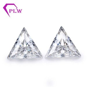 price 1.5 ct 7.5 mm D color test positive triangle moissanite gem for bracelet ring earring from Provence jewelry