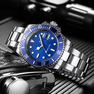 Addies Dive Série Sports Black Dial Luxo Relógios 316L Steel Quartzo BGW9 Cerâmica Bezel Homens 200m Mergulho Relógio