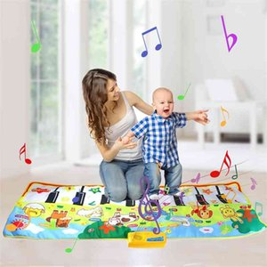 Baby Musical Mat Electronic Music Carpet & Funny Animal Sound Piano Play Rug Educational Instrument Toy Birthday Gift for Kids 210401