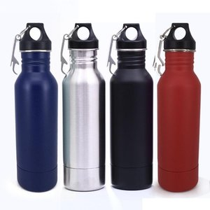 Stainless Steel Wide Mouth Drinking Water Bottle Cycling Sports Camping Travel Drink Water Bottle 6 colors