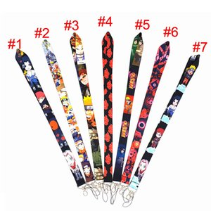 Naruto Anime Lanyard with id Holder Keys String Nylon Straps of Wallet Cell phone Bags Gifts merch Party Supplies Keychains Lanyards Gift For Naruto Akatsuki Fan