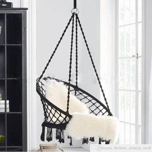 북유럽 스타일 라운드 그물 침대 야외 실내 기숙사 침실 교수형 자녀를위한 의자 성인 스윙 단일 안전 2 색 캠프 가구