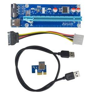 Placa base 0.6m USB 3.0 PCI-E Express 1x a 16x Cable extension de extensión Ajuste de la tarjeta de la tarjeta para la minería