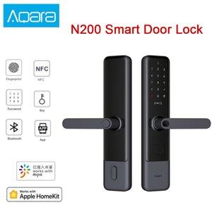 Aqara N200 Smart Door Lock Fingerprint Bluetooth Password NFC Unlock Works For Mijia Apple HomeKit Smart Linkage With Doorbell
