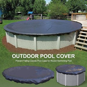 Pool & Accessories 210D Swimming Protection Cover Outdoor Round Leaf Proof Cloth Tarpaulin For Indoor Frame
