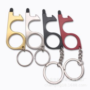 Door Contactless Opener Edc Epidemic Prevention Metal Touch Screen Keychain Pendant