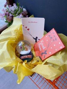 Kişiselleştirilmiş özel hediye kutusu küçük prens kar küresi kitap doğum günü arkadaş anne aşk sevgilim kız arkadaşı tebrik kartı sarma
