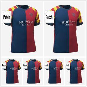 21 22 SD Huesca Ev Erkekler Kit Soccer Jersey 2021 2022 Aragon Ki Sergio Gómez J.Pulio Insua Okazaki Javi Galan Camisetas de Fútbol Futbol Gömlek