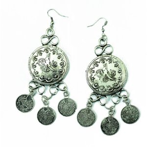 Fashionable Bohemian style tassel coin Earrings
