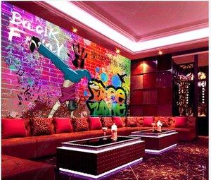 Wallpapers Custom Po Wallpaper For Walls 3d Mural Modern European Trend Street Graffiti KTV Bar Background Wall Papers Home Decoration