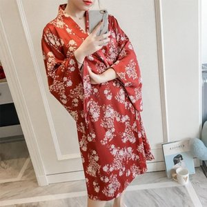 Traditional Japanese Kimonos Yukata Kimono Cardigan Female Pajamas Costume Geisha Dress Haori Obi FF2211 Ethnic Clothing