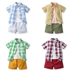 Baby Clothing Sets Boy Suit Boys Outfits Kids Clothes Summer Cotton Short Sleeve Shirts T-shirts Shorts Pants 3Pcs 1-6Y B4941