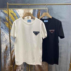 2021SS Весна и лето Новый Высококачественный хлопчатобумажный печать с коротким рукавом круглые шеи панель футболки Размер: M-L-XL-XXL-XXXL Цвет: черный белый 8 с