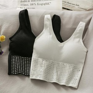 Camisoles & Tanks Mesh Top Vest Back Web Celebrity In A Particular Build Comfortable Bra Without Rims Sports Woman Drilling Wipes Bosom RWRS