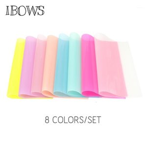 22cm*30cm 8pcs set Jelly Synthetic Leather Fabric Transparent PVC Vinyl Fabric for Hair Bow Bags Handmade Crafts Material1