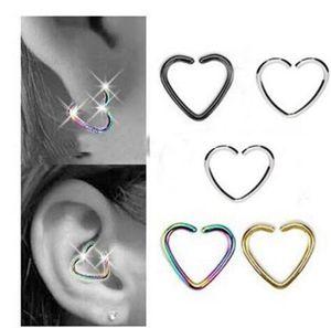 الأزياء بالجملة حلقات الأنف وهمية والأزرار سحر القلب الجسم مجوهرات فاليس الأذن ترصيع DFF0583