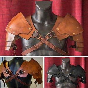 دروع للرجال، النمط العصور الوسطى Steampunk Leather Briveted دعوى، Viking Gladiator، المحارب، فارس القتال