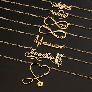 Personalized stainls steel custom name jewelry custom letter women pendant necklace