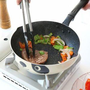 Прочная панская сковорода для сковороды для сковородок Panda Peption Maifan Камень без палки WOK Глубокая индукционная плита Универсальные сковородки