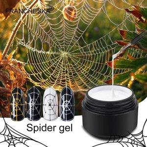 Nail Gel 8ml Spider Line Nails Polish Black White Drawing Wire Web Art Varnish UV Creative Manicure