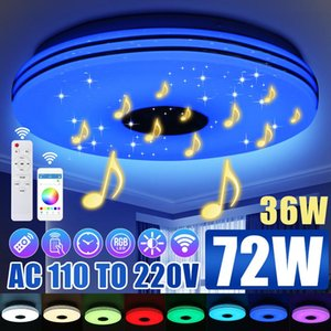 Ceiling Lights 36W 72W RGB Dimmable Music Light Remote&APP Control Smart LED Lamp For Home Bluetooth Speaker Lighting Fixture