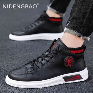 Skate shoes Men Casual Shoes Herf And Winter Trend High Top Socks All Match Outdoor Sport Fashion Sneakers 210826